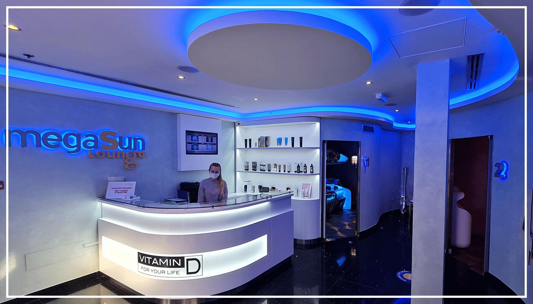 Megasun lounge reception